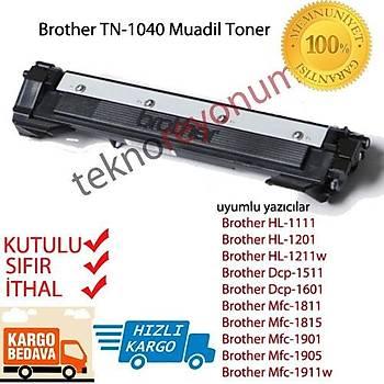 Brother Tn-1040 Muadil Toner HL-1111/HL1201/HL1211W/DCP1511/1911