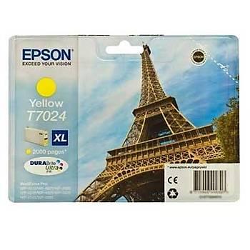 Epson T7024 XL Wp-4015, 4025, 4095, 4515, 4525, 4535 Sarý Kartuþ