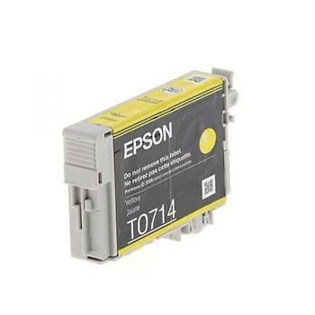 Epson T0714 Sarý Kartuþ Outlet Orjinal Dx4050, 4450, 5050, 6050, 7450