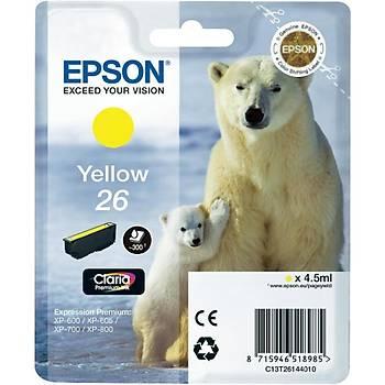 Epson T2614 (26) Xp600, 700, 800 Sarý Kartuþ