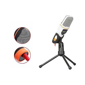 Snopy Sn-340m Beyaz 3.5mm Masaüstü Mikrofon