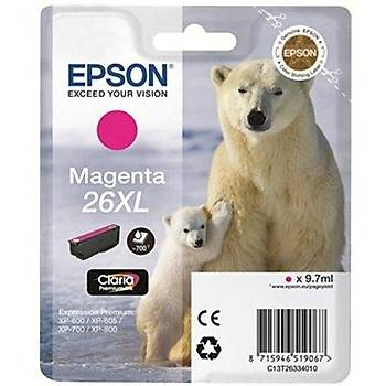 Epson T2633 (26XL) Xp600, 700, 800 Yük.Kap. Kýrmýzý Kartuþ