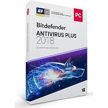 Bitdefender Antivirüs Plus 2018 1 Yýl 3 Kullanýcý
