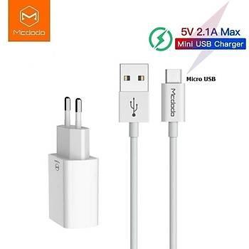 Mcdodo CH-6731 Micro USB Android 2.1A Þarj Adaptör ve Kablosu 1M Beyaz