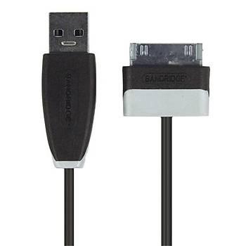 Bandridge BBM39200B10 Samsung 30pin USB A 1m TAB sync þarj kablo