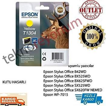Epson T1304 Bx320fw, Bx525wd, Bx625fwd Sarý Kartuþ Outlet