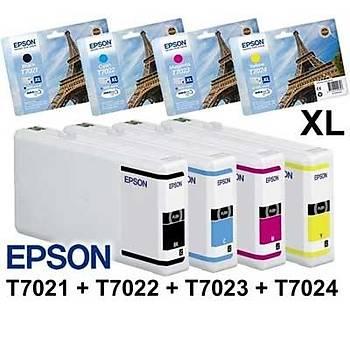 Epson T7021/7022/7023/7024xl wp4525,4515,4015 Orjinal Kartuþ Set
