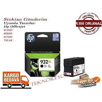 Hp 932XL (CN053Ae) Officejet 6100/6600/6700/7612 Siyah Kartuþ Orj