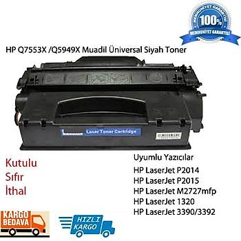 HP Q7553X /Q5949X Muadil Üniversal Siyah Toner