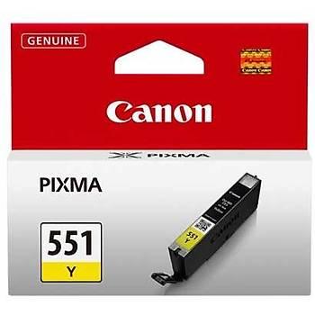 Canon CLI-551Y Mg6350, Mg5450, Ip7250 Sarý Kartuþ