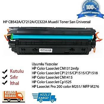 Hp CB542A/CF212A/CE322A Muadil Sarý Toner Üniversal