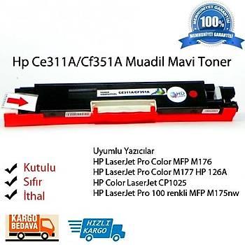 Hp Ce311A/Cf351A Muadil Mavi Toner M176/M177/M175