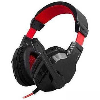 Snopy Rampage SN-R3 Oyuncu Siyah/Kýrmýzý Mikrofonlu Kulaklýk