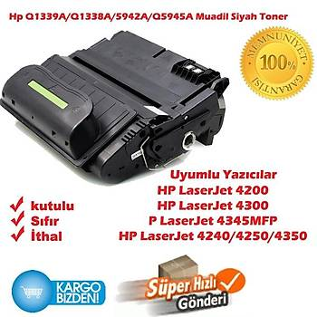 Hp Q1339A/Q1338A/5942A/Q5945A Muadil Siyah Toner 4200/4300