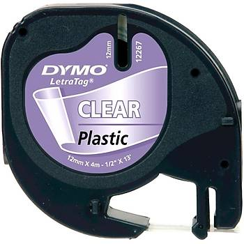 Dymo 12268 12MM 4MT Þeffaf Plastik Þerit