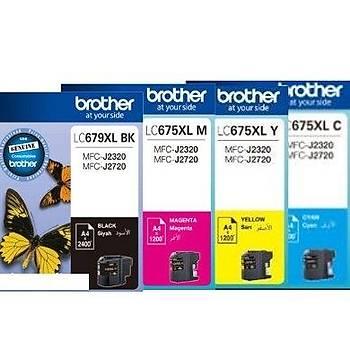 Brother Lc-679XL - LC675xl Siyah-Renkli Kartuþ Seti Mfc-J2320, J2720