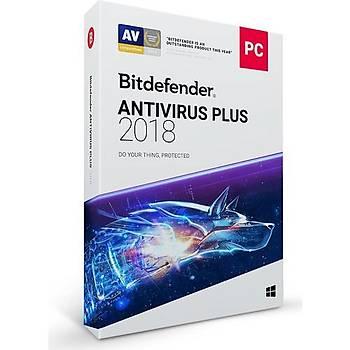 Bitdefender Antivirüs Plus 2018 1 Kullanýcý 1 Yýl