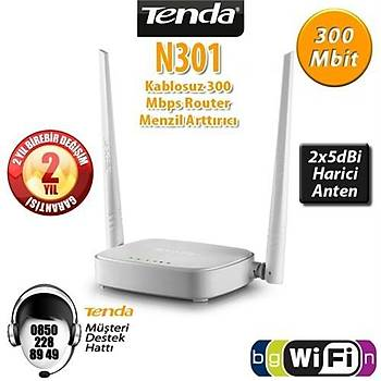 TENDA N301 Router 300Mbps 4 Port Dual Band N Router