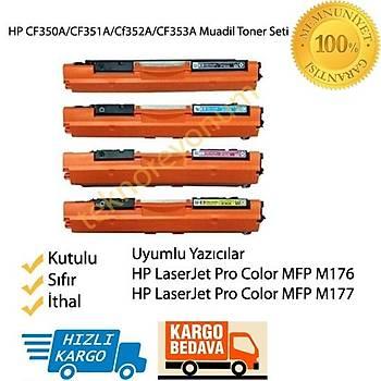 Hp CF350A/Cf351A/CF352A/CF353A Muadil Toner Seti MFP M176/M177