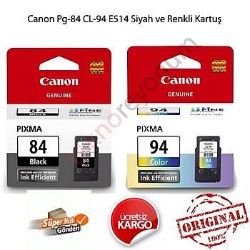Canon PG-84 Siyah ve CL-94 Renkli Canon E514 Set Kartuþ