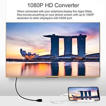 Universal HDTV Tak Çalýþtýr Ýphone-Type-C-Micro Usb Uyumlu Siyah