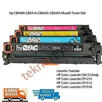 Hp 125A CB540A/CB541A/CB542A/CB543A 4Lü Set Muadil Toner Cp1215