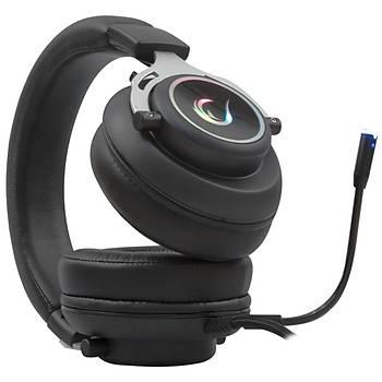 Rampage RM-33 FALCON-X USB 7.1 Oyuncu Mikrofonlu Kulaklýk Siyah