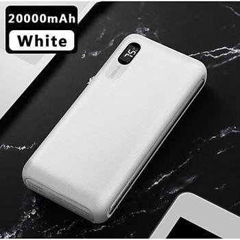 Mcdodo MC-6050 20.000 Mah Dijital Göstergeli Powerbank 2xUSB Beyaz