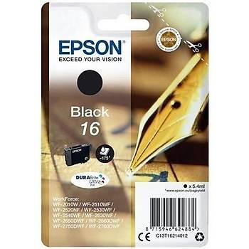 Epson T1621 (16) WF2010, 2520, 2540 Siyah Kartuþ