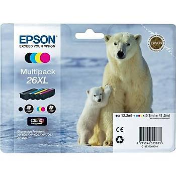 Epson T2636 (26XL) Xp600, 700, 800 YÜK.KAP. Kartuþ Seti