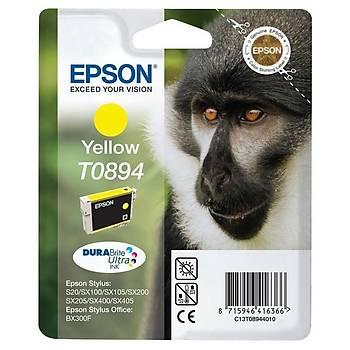 Epson T0894 Sarý Kartuþ Orjinal Outlet Bx300f, Sx105, Sx115, Sx205