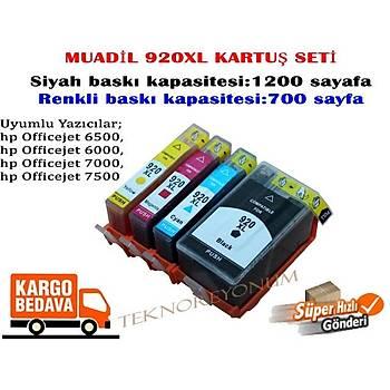 Hp 920XL CD974A 6000/6500/7000/7500 C/M/Y/BK Muadil Kartuþ Seti