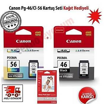Canon Pg-46/Cl-56 Pixma E404/E414/E464/E484 Siyah-Renkli Kartuþ