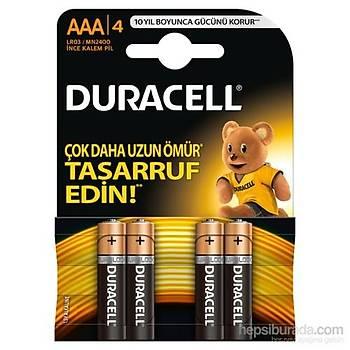 Duracell AAA Ýnce Kalem Pil 4LU Alkalin (Kumanda Pili)