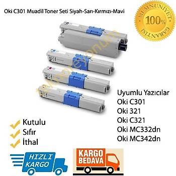 Oki C301 Muadil Toner Seti 321/C321/MC332dn/MC342dn