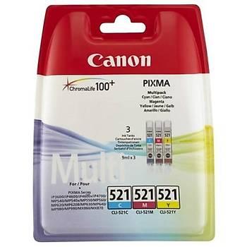Canon CLI-521CMY IP3600, Mp260, Mx860 Set Kartuþ
