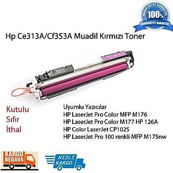 Hp Ce313A/Cf353A Muadil Kýrmýzý Toner M176/M177/M175