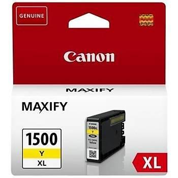 Canon PGI-1500XL Y Sarý Kartuþ Orjinal MAXIFY MB2050/MB2350