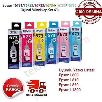 Epson T6731-6732-6733-6734-6735-36 L800-L810-L1800 Mürekkep Set