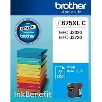 Brother LC675XL C Mavi Kartuþ Orjinal FC-J2720-MFC-J2320