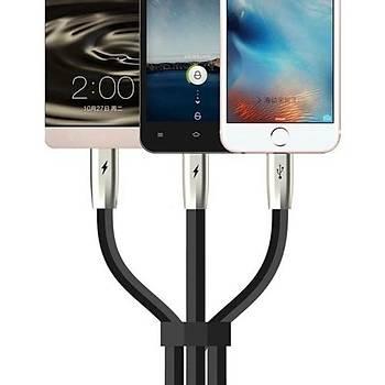 Mcdodo 3in1 Þarj Data Kablosu Ýphone-Mikro Usb-Type c