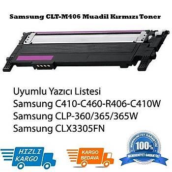Samsung CLT-M406 Muadil Kýrmýzý Toner Clp-365, Clx3305FN, C410