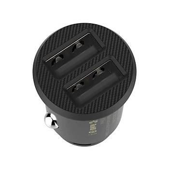 Baseus Mini Dual USB 3.1A Hýzlý Araç Þarj Baþlýk CCALL-ML01