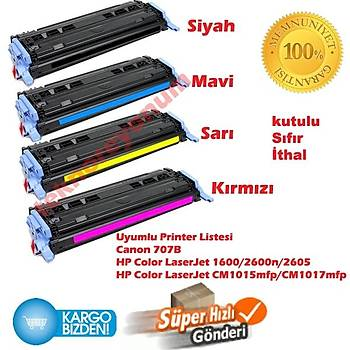 Hp Q6000A-Q6001A-Q6002A-Q6003A Muadil Toner Seti 1600/2600n/2605