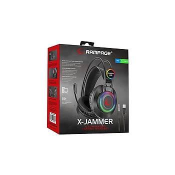 Rampage K27 XJammer RGB Mikrofonlu Gaming Kulaklýk