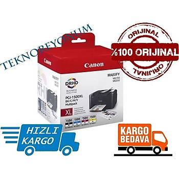 Canon PGI-1500XL BK/CMY 4Lü Orjinal Kartuþ MAXIFY MB2050/MB2350