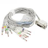 Siemens Hellige tek parça 10 Lead EKG kablosu