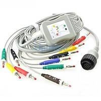 KENZ PC-104 tek parça 10 Lead EKG kablosu,