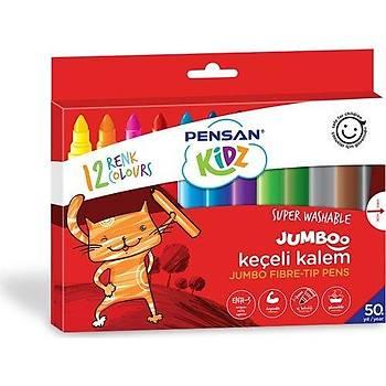 Pensan Kids 12 Renk Jumbo Keçeli Kalem