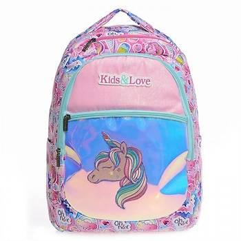 Kaukko Kids Love Unicorn Sýrt Çantasý Aynalý